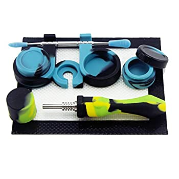 PILOTDIARY Portable Mini Straw Kit with Container & Tool for On The Go Yellow/Green/Black