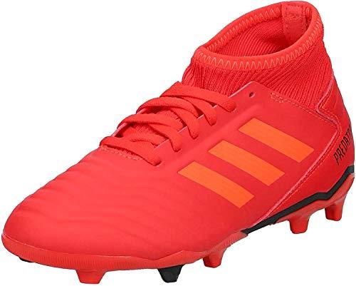 adidas Predator 19.3 Fg J, Scarpe da Calcio Unisex-Bambini, Multicolore (Rojact/Rojsol/Negbás 000), 36 EU