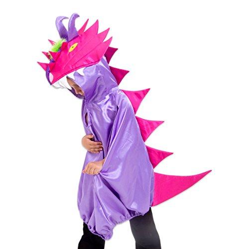 Drache Kostüm Mädchen (3-8 Jahre) - Mädchenkostüm Drache - Lila-Pink - Lucy Locket