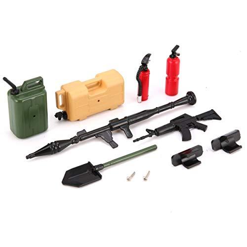LoveOlvido 20009 Mini Gesimuleerd Speelgoed Model Machinegeweer Benzinetank Brandblusser Schop Kit voor RC Auto Kinderen Aanwezig Aanwezig