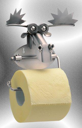 Boystoys HK Design - Toilettenpapierhalter Elch Metall Art Klopapierhalter - Original Schraubenmännchen Kollektion - handgefertigte Geschenkidee