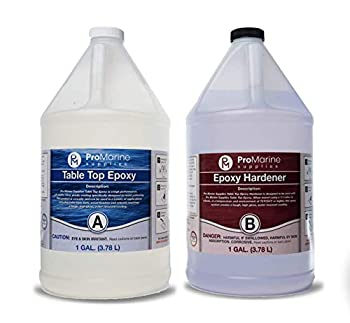 Clear Table Top Epoxy Resin That Self Levels This is a 2 Gallon High Gloss  1 Gallon Resin + 1 Gallon Hardener  Kit That's UV Resistant – It's DIYER & Pro Preferred with Minimal Bubbles
