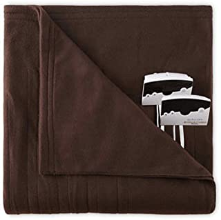 Pure Warmth Comfort Knit Queen Electric Heated Blanket Chocolate
