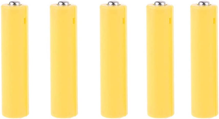 Newesoutorry 5Pcs AA AAA Size Dummy Fake Battery Setup Shell Placeholder Cylinder Conductor