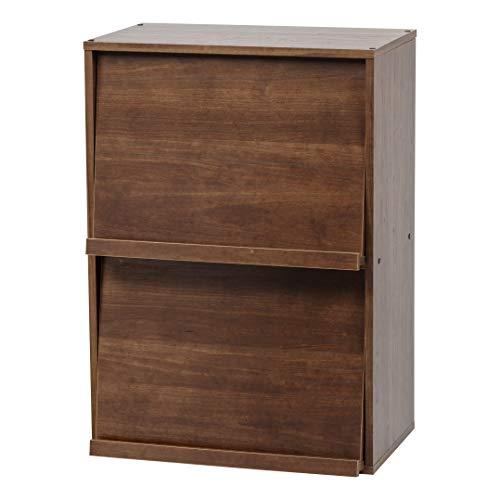 Marca Amazon - Movian CHR-2 Módulo Mueble Armario 2 nicho con puerta abatible en madera MDF, madera de ingeniería, marrón (roble marrón)