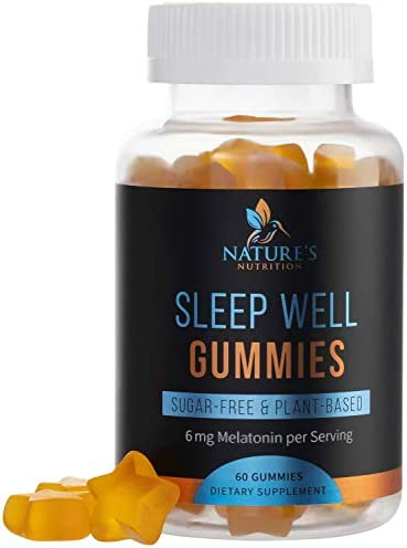 Melatonin Gummies Extra Strength Sleep Gummy Vitamins 6mg Natural Sugar Free Sleeping Gummies product image