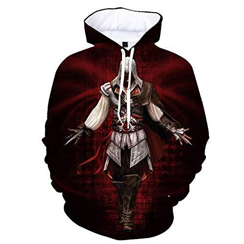 mglxzxxzc Assassin'S Creed 3D Sudadera con Capucha Unisex Niño Niña Niño Streetwear Sudadera Disfraz-Wy8143_S
