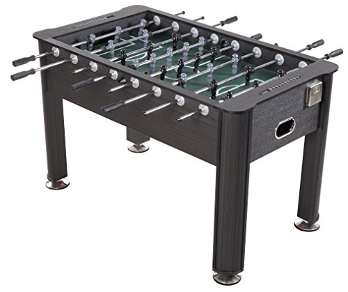 Sport Squad Greyson 56'' Foosball Table with 2 Soccer Foosballs, Grey Wood Finish