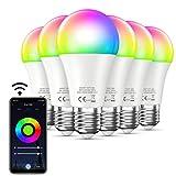 ▲Telecomando: Che tu sia a casa o fuori, puoi controllare a distanza l'accensione / spegnimento della tua lampadina intelligente installando l'app Smart Life dal tuo telefono o tablet. Funziona solo con la rete Wi-Fi a 2,4 GHz. ▲Controllo Vocale: Sma...