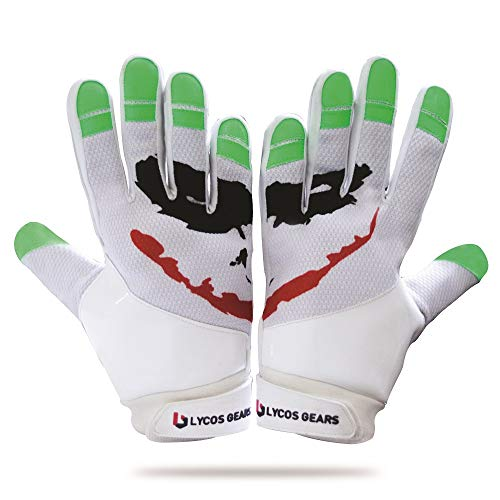 Lycos Gears Joker Receiver Youth Football Gloves (Adult-Small)