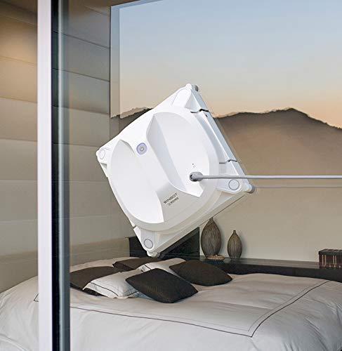 ECOVACS Robotics WINBOT X - Il robot cordless per la pulizia dei vetri, Selezione automatica del percorso migliore, Corda e ventosa di sicurezza, Telecomando, bianco
