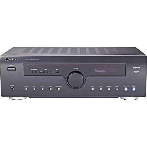 Renkforce SR-2000U Stereo Receiver 2x50W Schwarz USB
