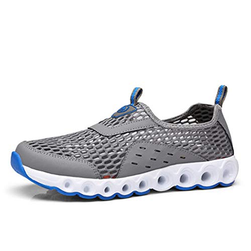 iwzmiapal Men Outdoor Casual Shoes Mesh Thick-Soled Outdoor Sports Traveling Walking Jogging Shoes Grey