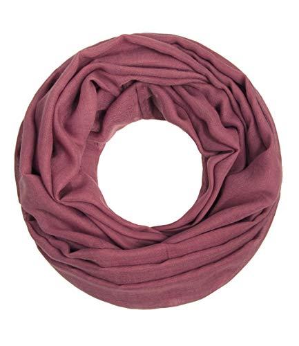 Majea Loop Cary Basic Schal Tuch Damen-schal Schlauchschal Rundschal Halstücher uni unifarben Loopschal einfarbig (marsala)