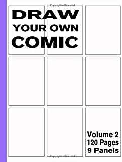 Draw Your Own Comic – 9 Panels: Sketchbook of Blank Panels 120 Pages – Layout Design 1 (Blank Comic Books)