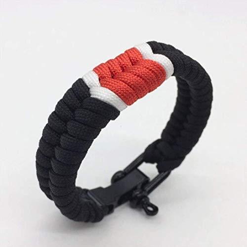 Fight Club Brazilian Jiu Jitsu Ranked Bracelet/BJJ Wrist Band/Jiu Jitsu Bracciale/colori assortiti, nero, Taglia unica
