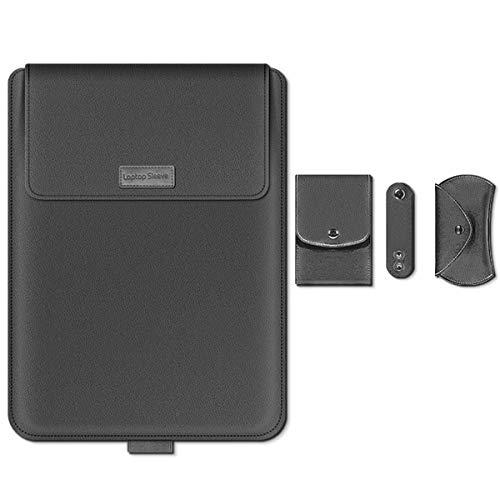 Custodia per PC portatile da 15 pollici, con funzione di supporto, 2 in 1, in similpelle, con supporto per laptop e laptop 2012-2020, colore: grigio
