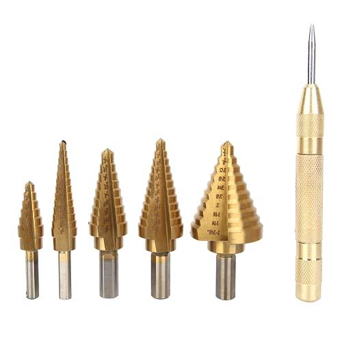 Set di punte HSS, set di punte per trapano a gradino Superficie in titanio per cacciavite elettrico per praticare fori di grandi dimensioni