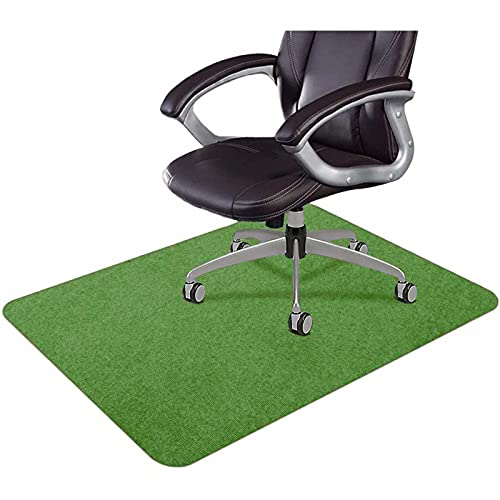 Alfombra de piso duro para silla de pelo bajo, antideslizante, de alta resistencia al impacto, alfombra protectora de piso de oficina, anti arañazos, color verde
