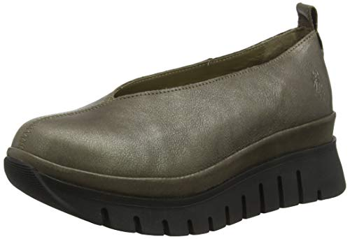 Fly London Damen BAST061FLY Geschlossene Ballerinas, Grau 006, 41 EU