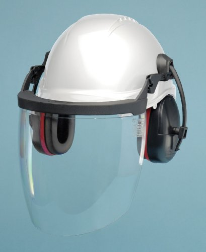 Hard Hat Component Kit w/ Earmuffs, White