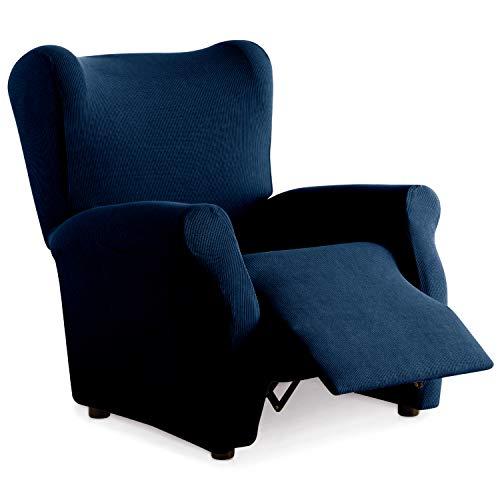 Eiffel Textile Funda Sillon Elastica Protector Adaptable Rústica Relax, Azul