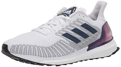 adidas womens Solar Boost St 19 W Running Shoe, White/Indigo/Solar Red, 7.5 US