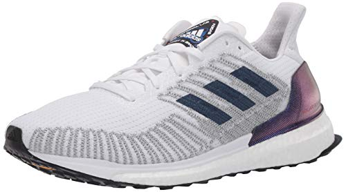 adidas womens Solar Boost St 19 W Running Shoe, White/Indigo/Solar Red, 7.5 US