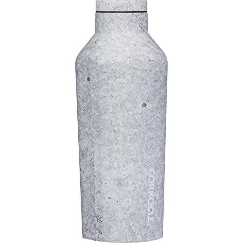 Corkcicle Botella aislada de acero inoxidable, 264 ml, diseño de hormigón