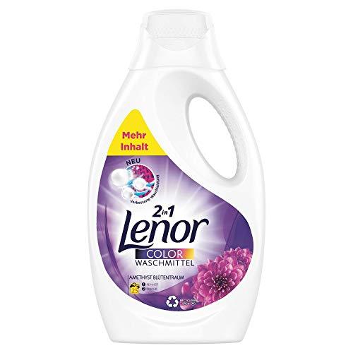 Lenor Waschmittel Flüssig, Flüssigwaschmittel, Color Waschmittel, Farbschutz, Amethyst Blütentraum, 25 Waschladungen (1.375 L)