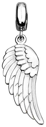 Nenalina Flügel Anhänger für Damen Kette oder Halskette glänzend in 925 Sterling Silber, 361230-090