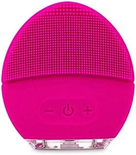 Comfortabele Elektrische borstel gezicht, Mini USB elektrisch gezicht Facial Cleansing Brush foreoing Silicone Sonic Clean...