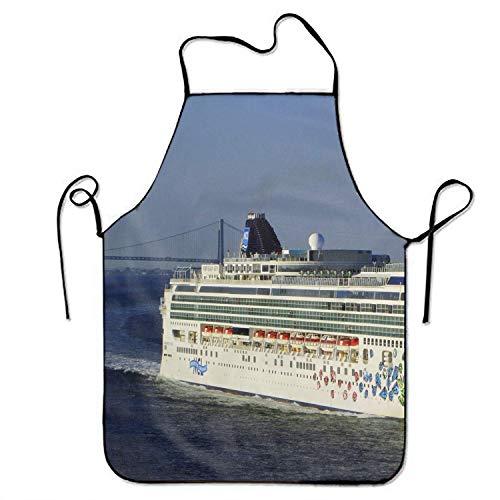 N\A Crucero Colorido mampostería Delantal de Graffiti Babero Save-All Delantal de Chef Parrilla Trasera Parrilla Prepárese para el Hombre de Familia Talla única