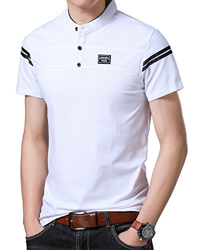 Yingqible Mens Casual Slim Fit Golf Polo Shirt Short-Sleeve Polo Golf Shirts Tops