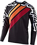 Troy Lee Designs Sprint Seca 2.0 - Maillot de ciclismo para hombre, color negro y burdeos