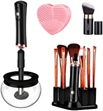 Electric Makeup Brush Cleaner Dryer, Wash and Dry in 10s, Makeup Brush Cleaner and Dryer Machine With 8 Rubber Collars, Automatic Brush Cleaner Spinner Makeup Brush Tools for All Size Brushes