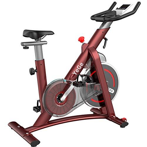 Bicicletas estáticas para interiores con cinturón de bicicleta con cómodo cojín de asiento, soporte para tableta para el hogar, entrenamiento cardiovascular, bicicleta