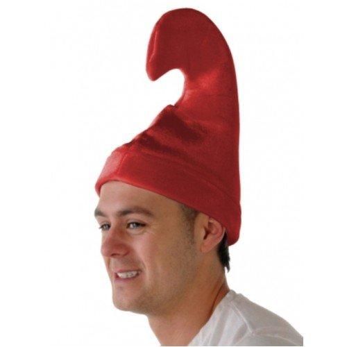 Pixie Smurf Like Shaped Hat Red Velvet, Felt Hat Adult One Size