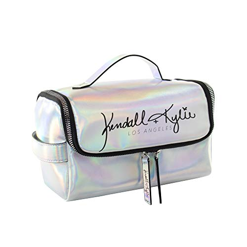Kendall + Kylie Zipper Front Travel Case with Top Handle (Iridescent Silver)