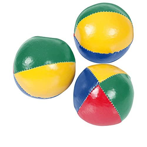 Sport-Tec Jonglierbälle-Set aus Kunstleder, 3-TLG, ø 6,8 cm,blau/grün/rot/gelb