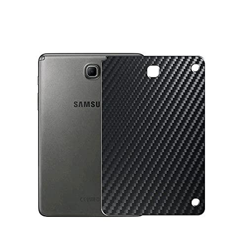 VacFun 2 Piezas Protector de pantalla Posterior, compatible con Samsung Galaxy Tab A 8.0 S Pen P350 (Wi-Fi) / P355 (3G LTE), Película de Trasera de Fibra de carbono negra Skin Piel