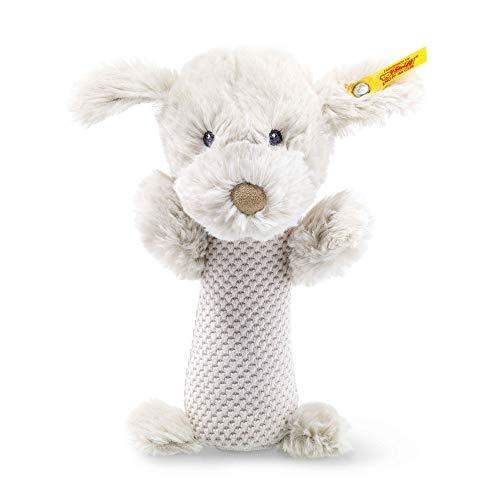 Steiff 240799 Soft Cuddly Friends Baster Hund Rassel, grau