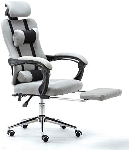 YONGYONGCHONG Bürostuhl Gaming Stuhl Bürostuhl High Back Computer Stuhl Schreibtischstuhl Ergonomisch Verstellbarer Swivel-Task-Stuhl (Color : Gray)