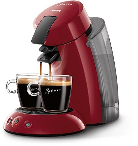 Philips Cafetera de monodosis de café HD7818/82 HD7818/82-Senseo Original XL, Color, 140 W, 2 Cups, plástico, Rojo