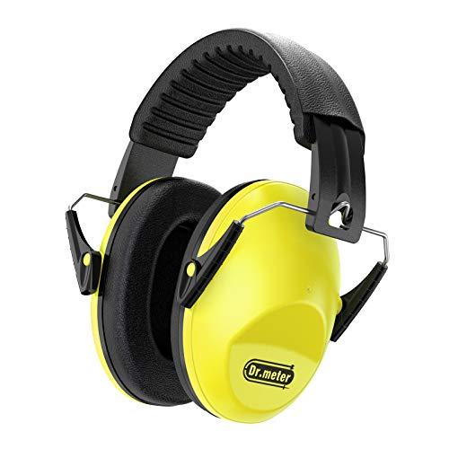 Gehörschutz Kind, Dr.meter Kids Ohrenschützer mit Lärmschutz SNR 30dB für Kinder Ohrenschützer zum Schlafen, Lernen, Kinder Babys Verstellbares Kopfband (Gelb)