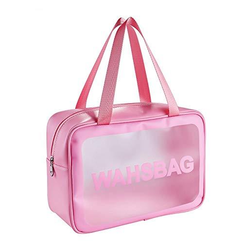 DAISUCAL PVC Transparent Makeup Bag Women Wash Bag Travel Organizer Large Capacity Cosmetic Storage Bag Hand Clear Bags