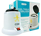 JJ CARE Nail Tool Sterilizer, Salon Tool Sterilizer, Tweezer Sanitizer Machine, Lash Tool Sterilizer, High Heat Disinfection with Sterilizer Beads, Manicure Tool Sterilizer
