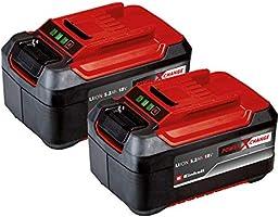 Einhell PXC-Twinpack 5.2 Ah Power X-Change (Li-Ion, 18 V, 2x 5.2 Ah, apta para todos los dispositivos PXC, gestión...