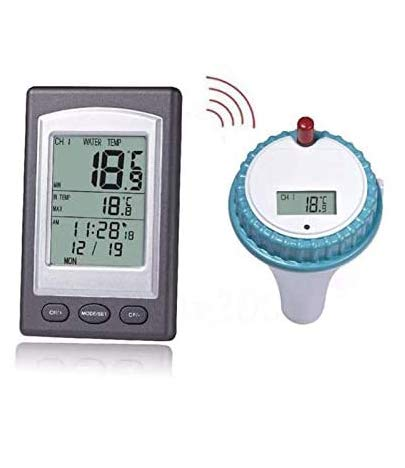 ODODDE Floating-Wasserthermometer, drahtloses Thermometer mit digitalem LCD-Display für Schwimmbad-digitales Floating-Pool und SPA-Thermometer