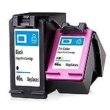 SXCD Cartuchos De Tinta 46xl para HP, Reemplazo Rendimiento para HP DeskJet Ink Advantage 2020HC 2029 2520HC 2529 Ultra 4729 Impresora De Inyección De Tinta Cartucho 1 Ne Black+Color